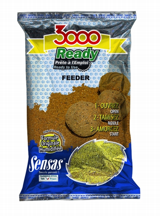 Sensas 3000 Ready-To-Fish Groundbaits (1kg)