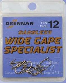Drennan Specialist Eyed Wide Gape Barbless