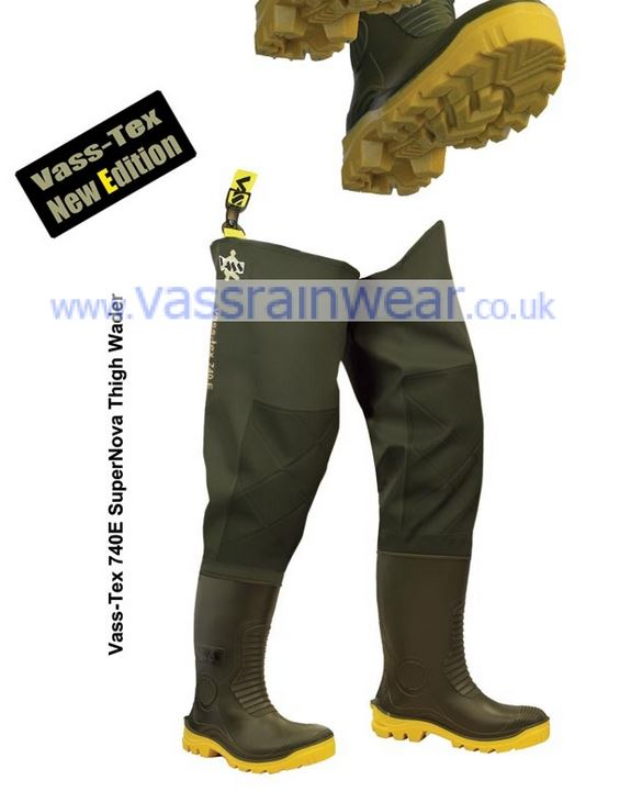 Vass-Tex 740 'SuperNova' Heavy Duty PVC Thigh Wader