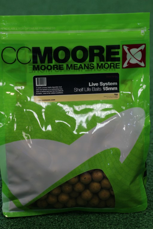 CC Moore Live System Shelf Life 15mm Boilies