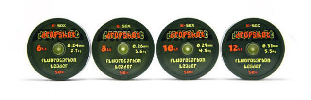 E-SOX Dropshot Flourocarbon Leader 50m