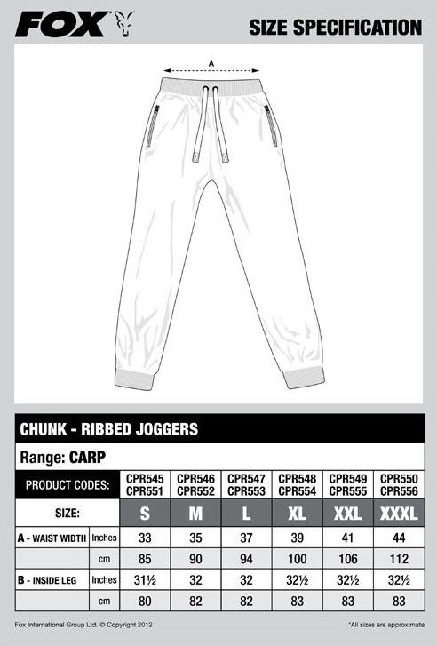 Fox Chunk Ribbed Joggers