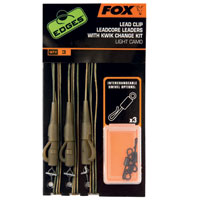 Fox Edges Lead Clip 45lb Leadcore Leaders With Kwik Change Kit