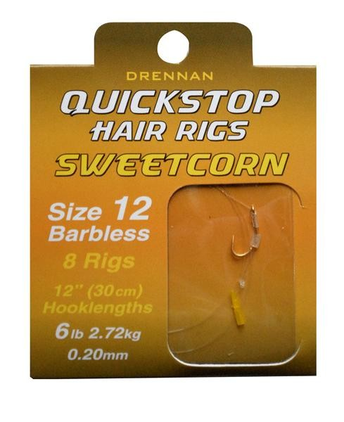Drennan Sweetcorn Quick Stop Hair Rigs