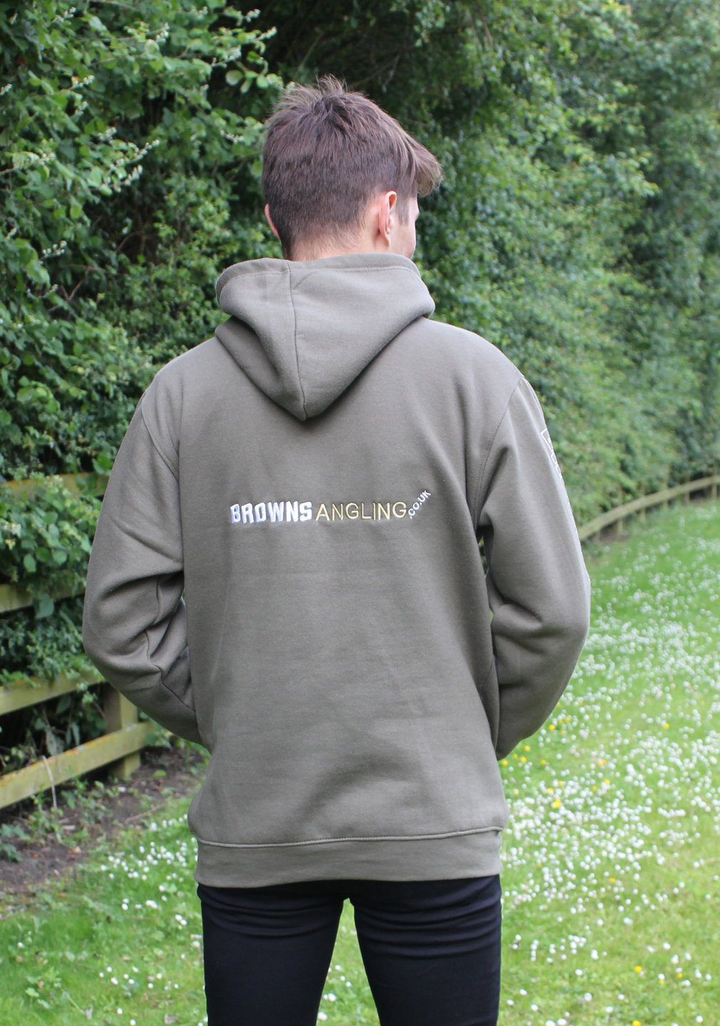 BROWNS ANGLING HOODY GREEN