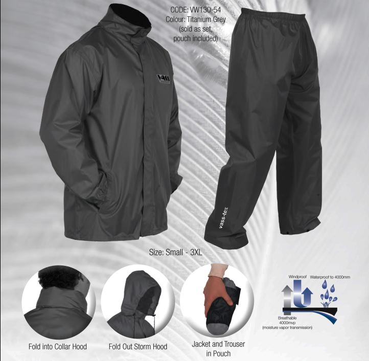 Vass – Tex Lightweight Packaway Jacket and Trouser Set