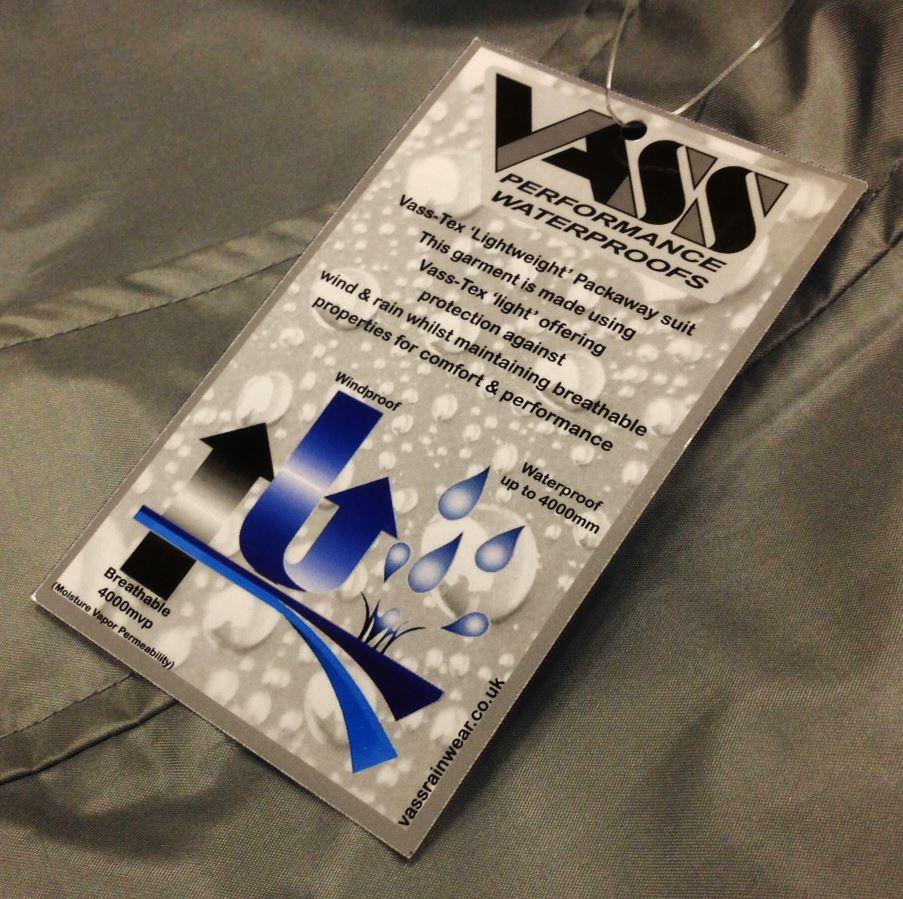 Vass-Tex Lightweight Packaway Jacket and Trouser Set