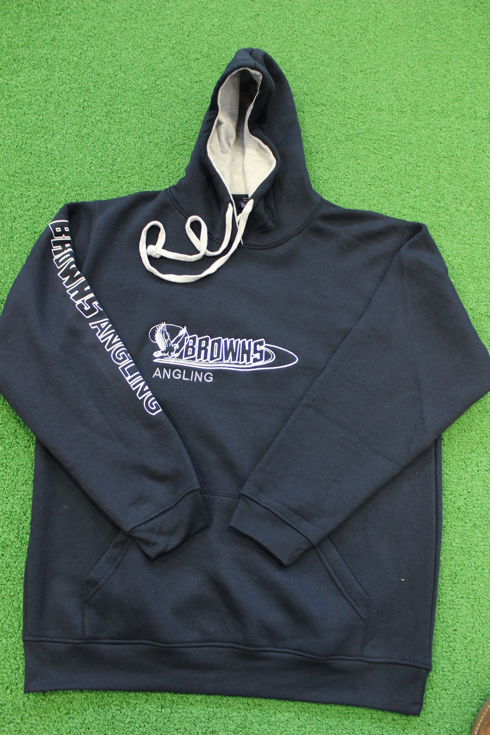 BROWNS ANGLING HOODY BLUE