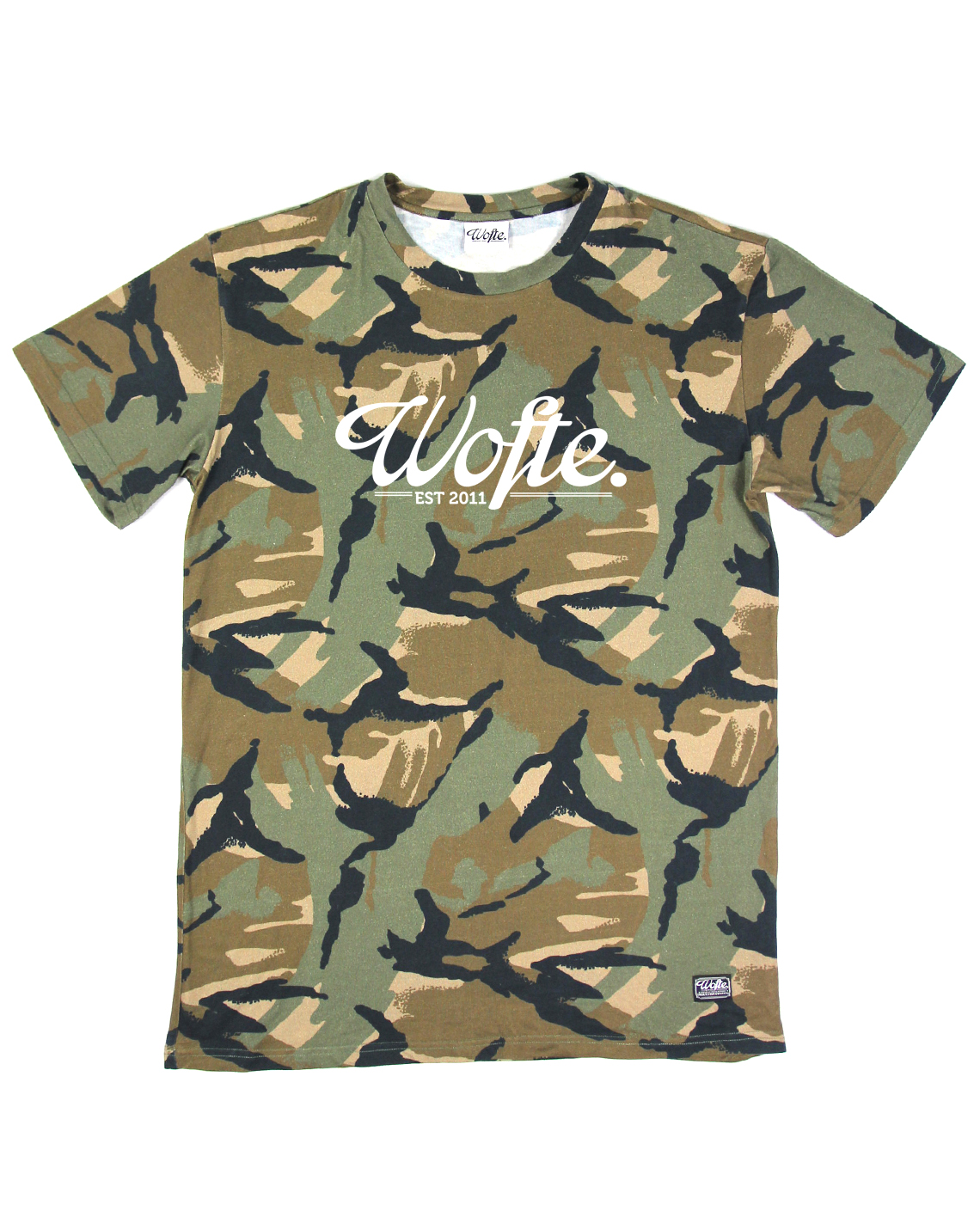 Wofte Clothing Camo Est.11 Tee Shirt