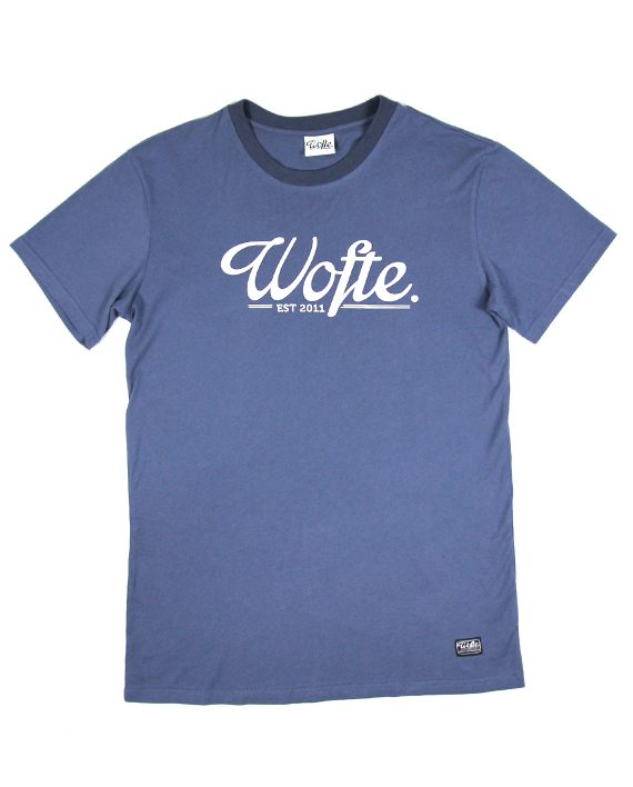 Wofte Clothing Est.11 Tee Shirt Navy