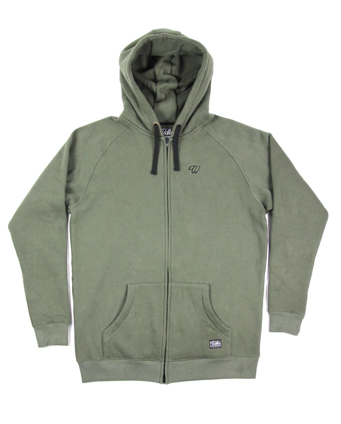 Wofte Clothing Olive D-LO Zipped Hood