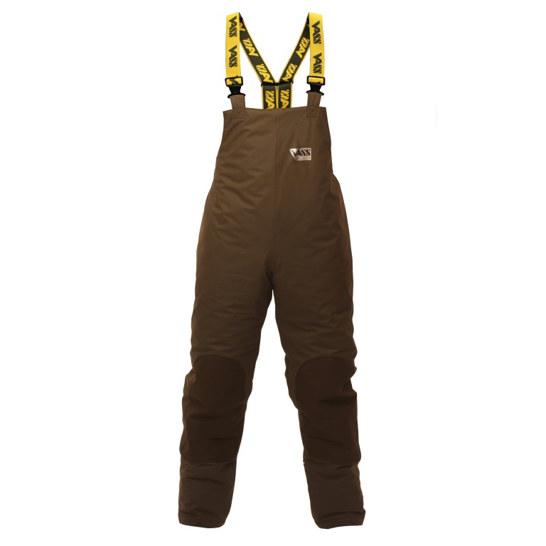 Team Vass 175 WINTER Khaki Edition Fishing Bib & Brace (Waterproof & Breathable).