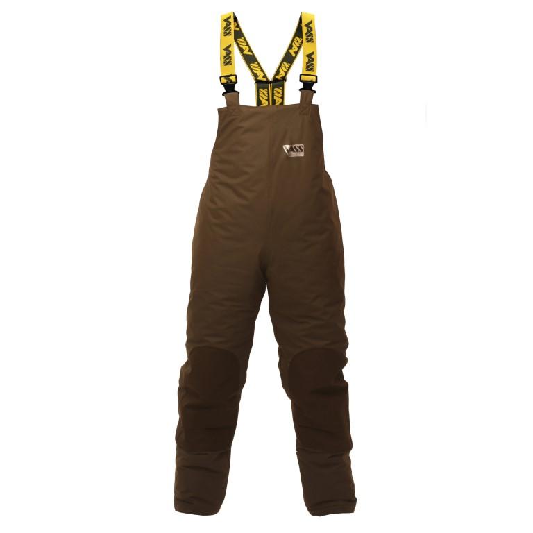 Team Vass 175 WINTER Khaki Edition Fishing Bib & Brace (Waterproof & Breathable).