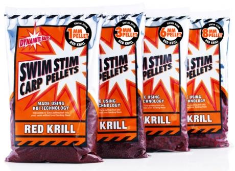 Dynamite Baits Swim Stim Red Krill Carp Pellets