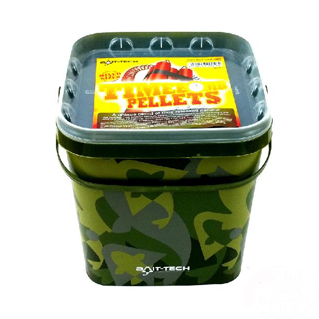 Bait Tech Time Bomb Pellets 3kg Camo Bucket