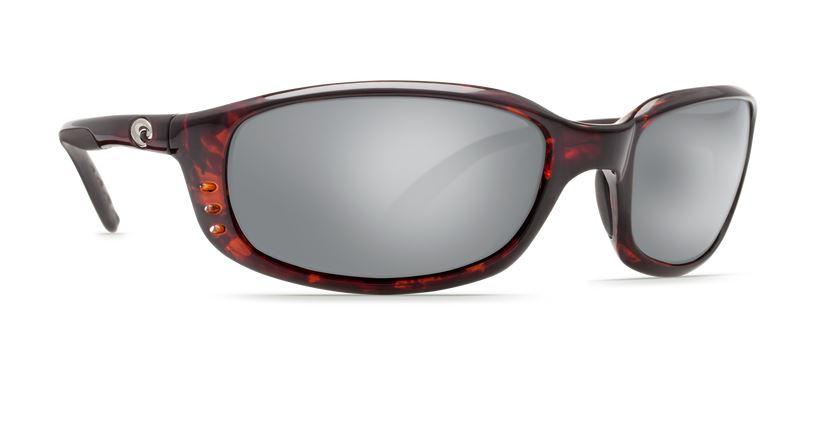 Costa Brine Tortoise 580 Silver Glass Sunglasses