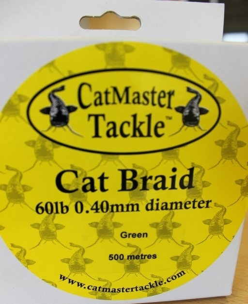 Catmaster Tackle Cat Braid 60lb 0.40mm Green 500m