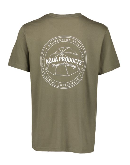 Aqua Products Big Logo Khaki T Shirt