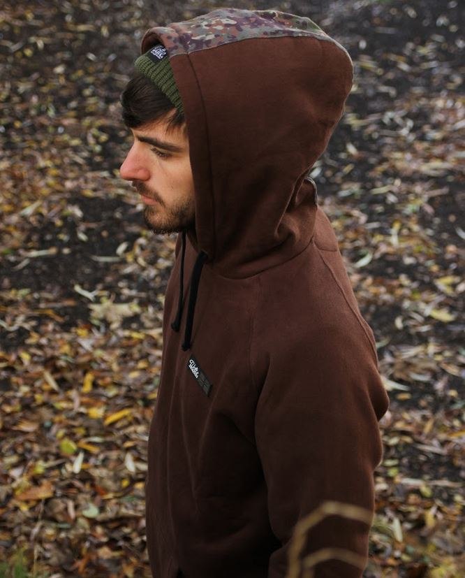 Wofte Clothing Brown Fleck Panel Hood