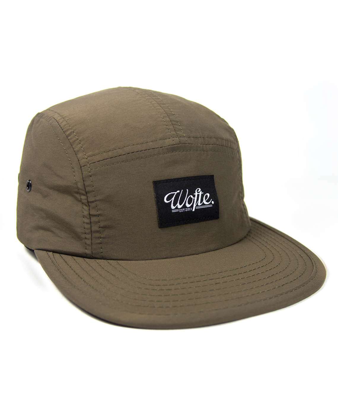 Wofte Clothing Khaki Nylon 5 Panel Cap