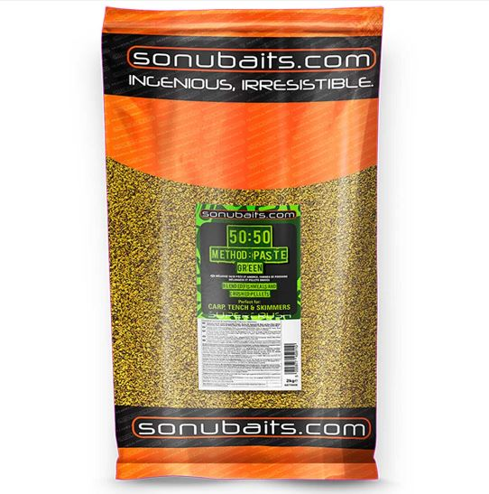 Sonubaits 50:50 Method & Paste Green Groundbait 2kg