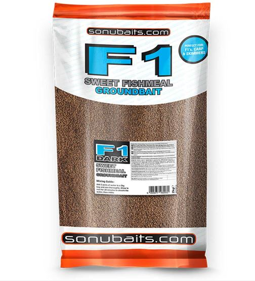 Sonubaits F1 Dark Sweet Fishmeal Groundbait 2kg