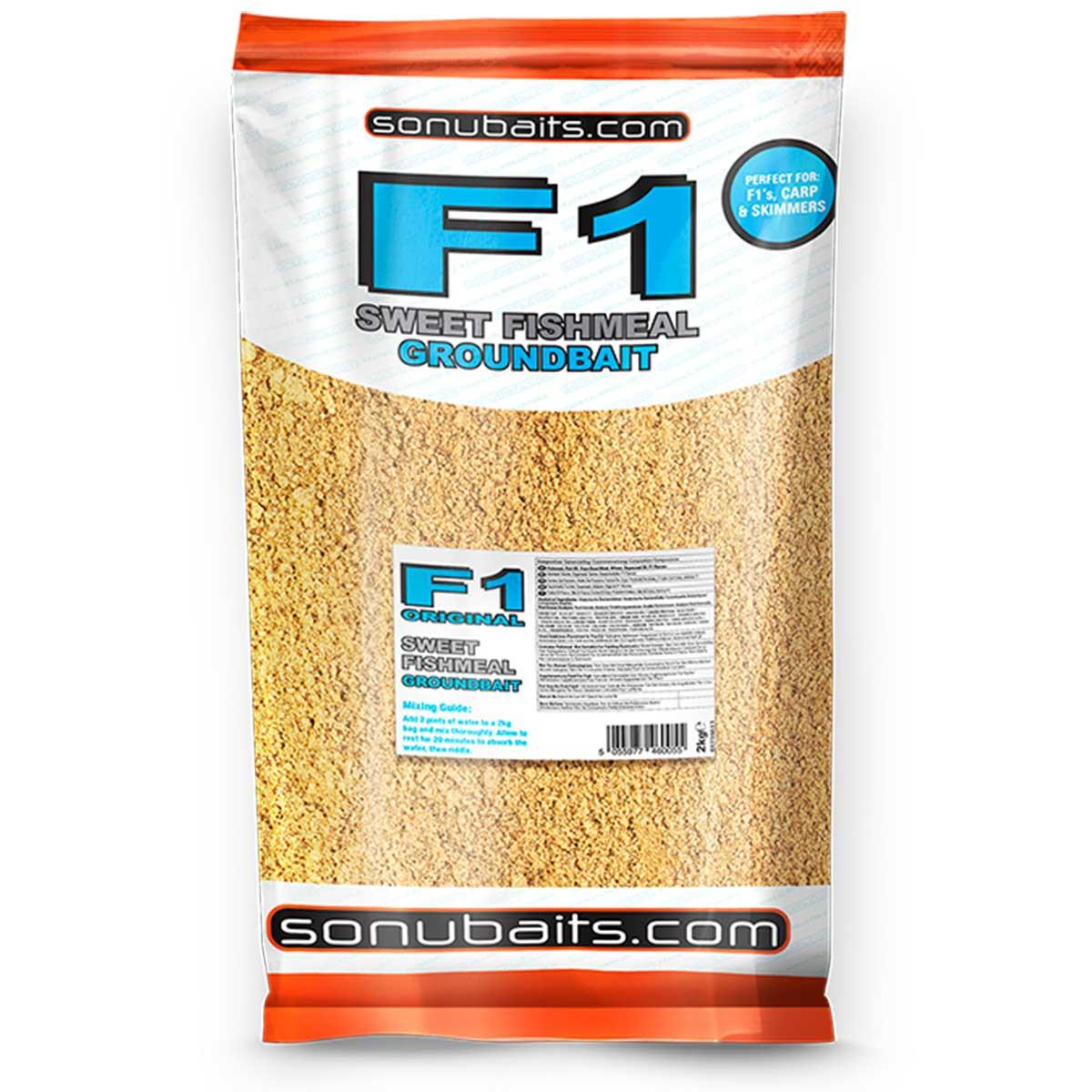 SonuBaits F1 Sweet Fishmeal Groundbait 2kg