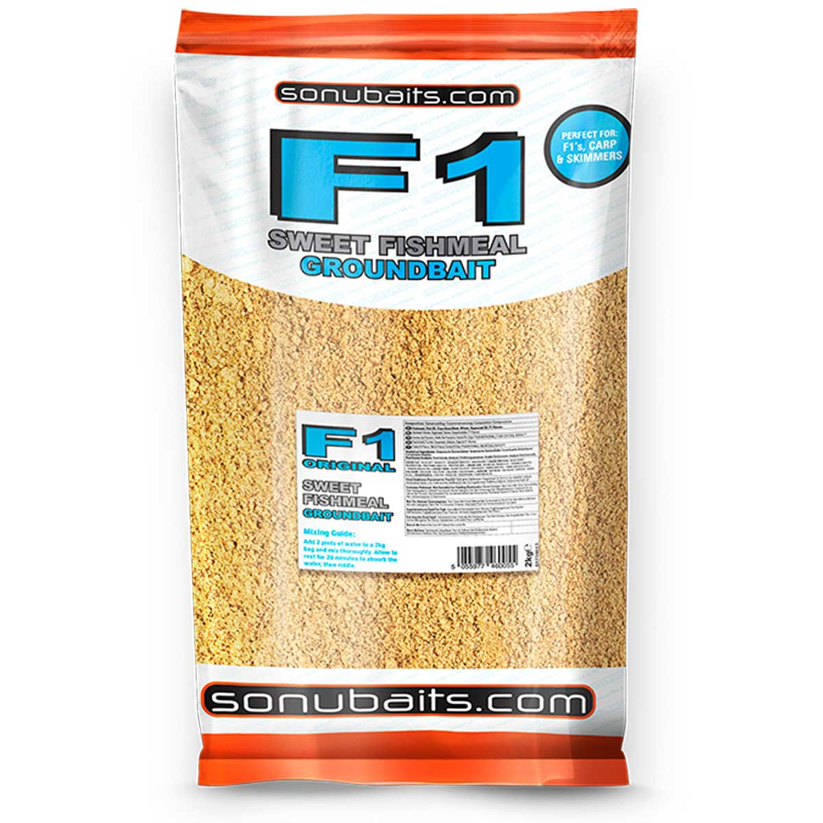 SonuBaits F1 Sweet Fishmeal Groundbait 2kg