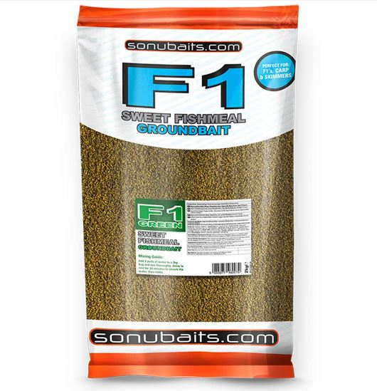 Sonubaits F1 Green Sweet Fishmeal Groundbait 2kg