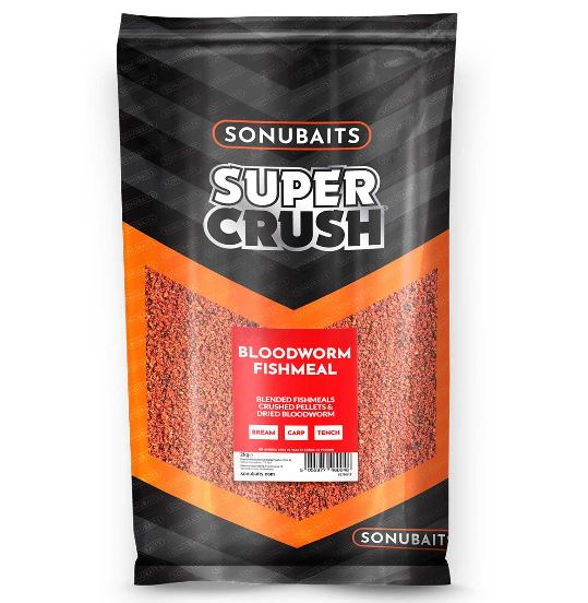 Sonubaits Supercrush Bloodworm Fishmeal Groundbait 2kg