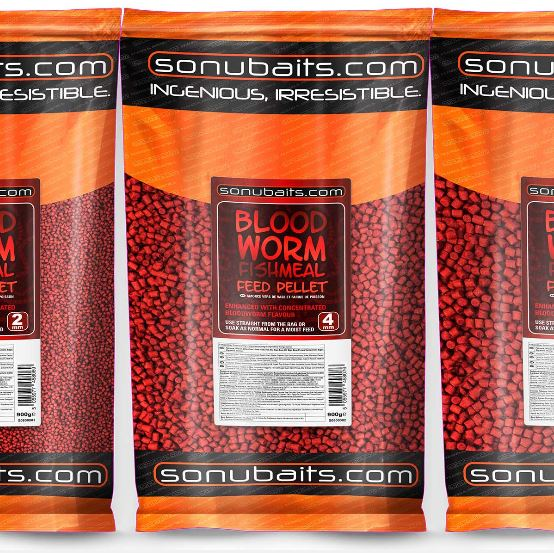 Sonubaits Bloodworm Fishmeal Feed Pellets 900g