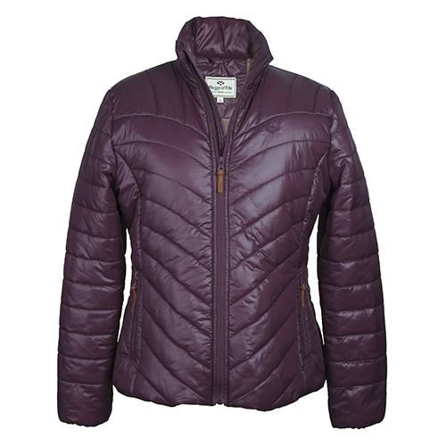 Hoggs Wilton Ladies Padded Jacket – Deep Plum