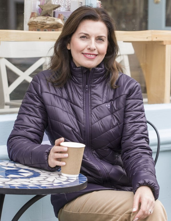 Hoggs Wilton Ladies Padded Jacket – Deep Plum