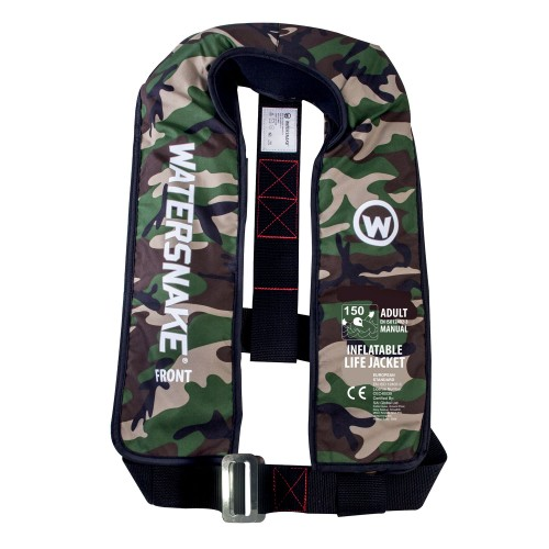 Watersnake Inflatable Manual Life Jacket 150